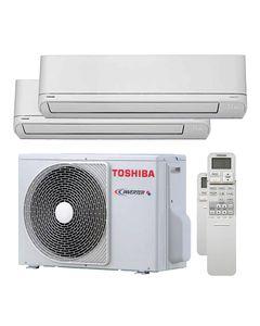 CLIMATIZZATORE CONDIZIONATORE TOSHIBA INVERTER DUAL SPLIT RAS 2 M10U2AVGE+7000+7000 SERIE SHORAI EDGE CLASSE A++ GAS R 32
