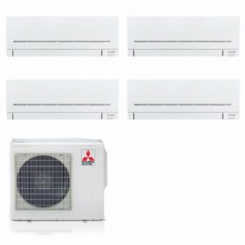 CLIMATIZZATORE CONDIZIONATORE INVERTER MITSUBISHI ELECTRIC QUADRI SPLIT MXZ-4F72VF+9000+9000+9000+9000 SERIE AP GAS R32