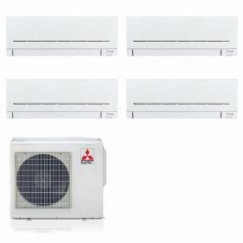 CLIMATIZZATORE CONDIZIONATORE INVERTER MITSUBISHI ELECTRIC QUADRI SPLIT MXZ-4F72VF+7000+7000+12000+12000 SERIE AP GAS R32